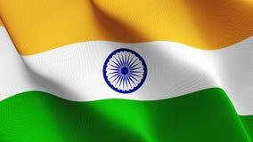 Indien flagga som vinkar på vind royaltyfri illustrationer