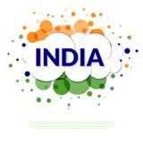 Indien flaggabaner Arkivfoton
