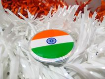 Indien flaggaemblem arkivfoto