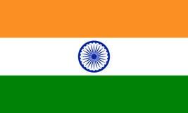 Indien-Flagge, offizielle Farben und proportionieren richtig Stockfoto