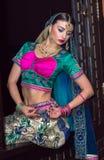 Indien flicka arkivbild