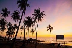 Indien - Goa - Vagator lizenzfreies stockbild