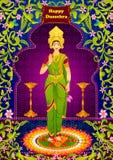 Indien Goddeess Lakshmi donnant la bénédiction illustration stock