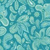 Indien Henna Vector Pattern de turquoise Image libre de droits