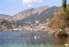 1977 Indien himalaja Die romantische Hügelstation auf Nainital Stockfotos