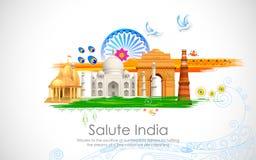 Indien-Hintergrund vektor abbildung