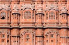 Indien Jaipur; Hawa Mahal der Palast der Winde lizenzfreie stockbilder