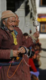 Indien, Ladakh, Mann, Tradition, Buddhismus, Religion, Alter, ethnics, Gebet, hohes Alter, Lizenzfreies Stockbild