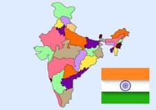 Indien landsöversikt Arkivbild