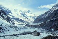 1977 Indien Landschaft nahe Rohtang-La Stockfotografie