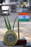 Indien landsflagga royaltyfria foton