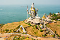 Indien landskap Gokarna Murudeshwara Arkivbilder