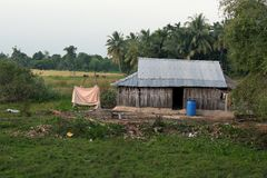 Indien lantliga hus Arkivbilder