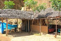Indien lantliga hus och lendscapes Arkivbild