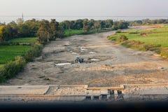 Indien lantliga hus och lendscapes Fotografering för Bildbyråer