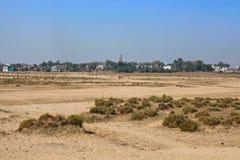 Indien lantliga hus och lendscapes Arkivfoto