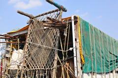 Indien lantliga hus och lendscapes Arkivbilder