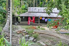 Indien lantliga hus och lendscapes Arkivfoton