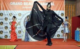 Indien modeshow Arkivbild