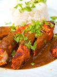 Indien - nourriture thaïe de poulet Photographie stock libre de droits