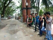 Indien och Bangladesh gräns Arkivfoton
