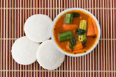 Indien oisif ou idli Photo stock