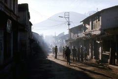 1977 Indien Ootacamund Atmosphäre des frühen Morgens Lizenzfreie Stockbilder