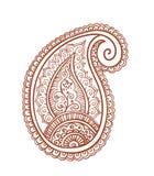 Indien Paisley - conception décorative de henné, Inde Vecteur d'ornamental de Mendi Image stock