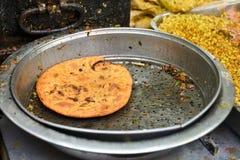 Indien Parantha (pain indien bourré) photos libres de droits
