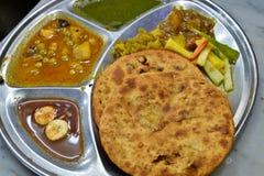 Indien Parantha (pain indien bourré) photo libre de droits