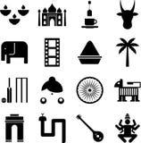 Indien-Piktogramme Lizenzfreie Stockfotos