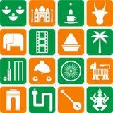 Indien-Piktogramme Lizenzfreies Stockbild