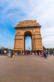 Indien port en krigminnesmärke i New Delhi Arkivbild