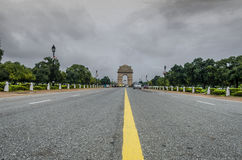 Indien portNew Delhi Indien dramatiska moln Arkivfoton