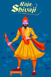 Indien Raja Shivaji avec l'épée Photos stock