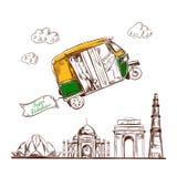 Indien Reise Vektor stock abbildung