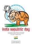 Indien republikdag royaltyfri illustrationer
