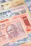 Indien-Rupiengeldbanknote Stockfotografie