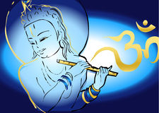 Indien-Serie - Krishna Lizenzfreies Stockfoto