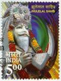 INDIEN - 2013: Shows Jhulelal Sahib, Dariyalal oder Zinda Pir Lizenzfreie Stockfotos
