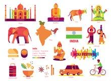 Indien, tecken och symbol Arkivbilder