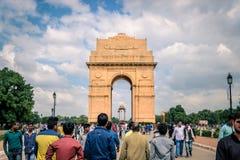 Indien-Tor in Delhi lizenzfreie stockfotografie