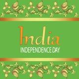 Indien Unabhängigkeit Day Text in der Verzierung Stockfoto