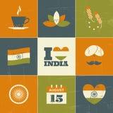 Indien-Unabhängigkeitstag-Sammlung Stockfoto