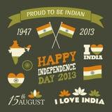 Indien-Unabhängigkeitstag-Sammlung Stockfotos