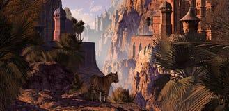 Indien und der Tiger Stockfoto