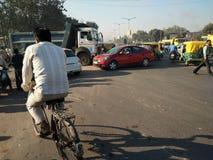 Indien vägtrafik Royaltyfria Foton