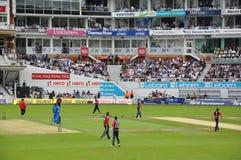 Indien vs England på Herrar Arkivbilder