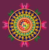 Indien yogamandala Arkivfoton