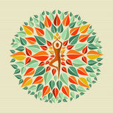 Indien yogamandala Arkivfoto